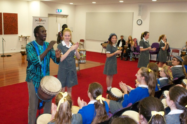 high school interactive drumming workshop incursion