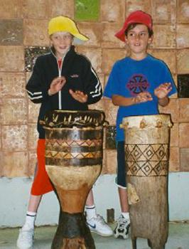 kids drumming workshop for OOSH